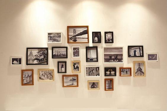 Decoração 23 pçs/set madeira combinação criativa parede Photo Frame Set Art Decor em Moldura de Casa & jardim no AliExpress.com | Alibaba Group