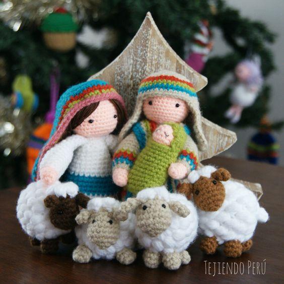 Amigurumi Crochet Navidad : Crochet: ovejitas amigurumi! Acompanan a Mar?a, Jose y a ...