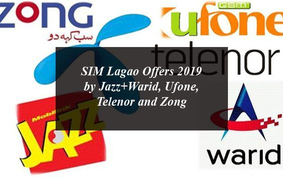 Sim Lagao Offers 2020 By Jazz Warid Ufone Telenor And Zong