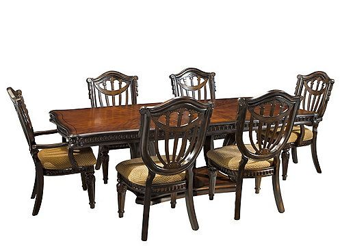 Make A Lasting Impression On Your Guests With This Stately Grand Estates  7 Piece Dining Set. Take One Look At The Inset Carvings Along The Perimeteu2026