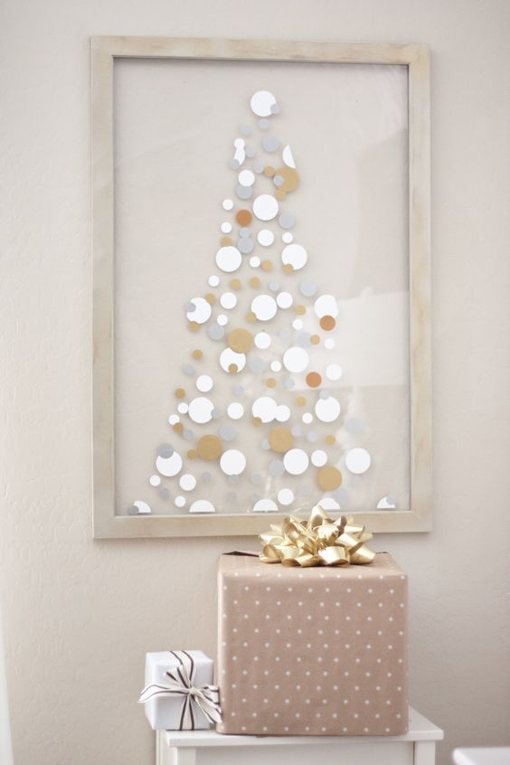 Super cute vinyl dot idea for the holidays!