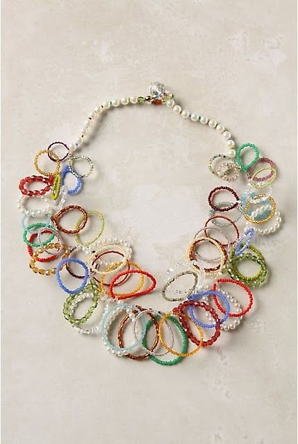 Anthropologie inspired necklace tutorial ... what a cute idea..........