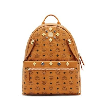 MCM Medium Dual Odeon Stark Backpack In Brown