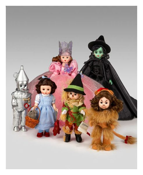 Madame Alexander Dolls ~ One day when my daughter worked at Mc Donalds, she brought home the set for me, still in their bags.  She knows I love Wizard of Oz things.  I thought it was so sweet.  I can't bear to take them out of their bags, so I have some more that don't have bags.