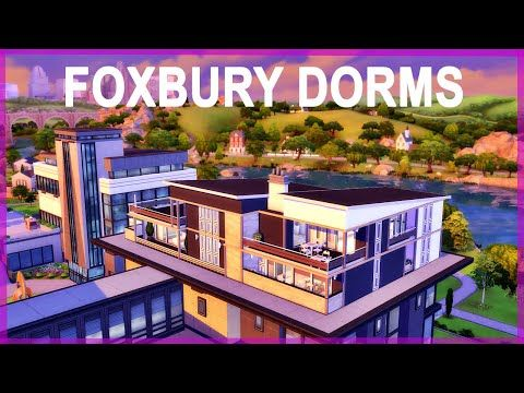 Modern Foxbury Dorms Sims 4 Discover University Speed Build