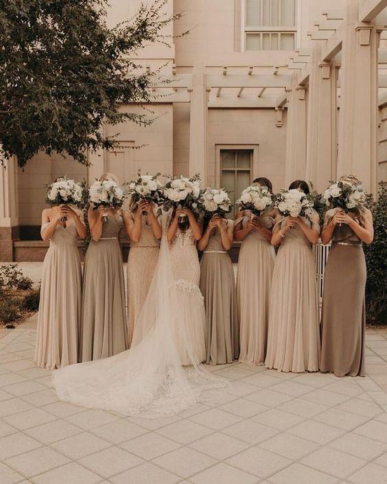 Neutral Colored Bridesmaid Dresses Wedding Bridesmaids Bridesmaid Dress Br Beige Bridesmaid Dress Champagne Beige Bridesmaid Dress Neutral Bridesmaid Dresses