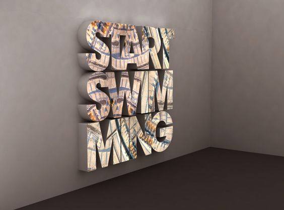 Doug Aitken  'Start Swimming'  LED lit lightbox  2006