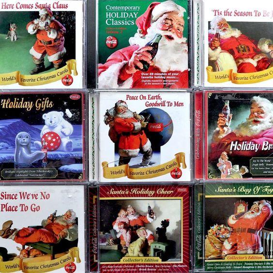 Coca-Cola Coke #Christmas 9 Cd Lot Collectors Edition Vols Holiday Classics Xmas #cocacola