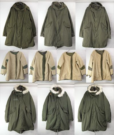 M51・M65 parka and wool pile liner