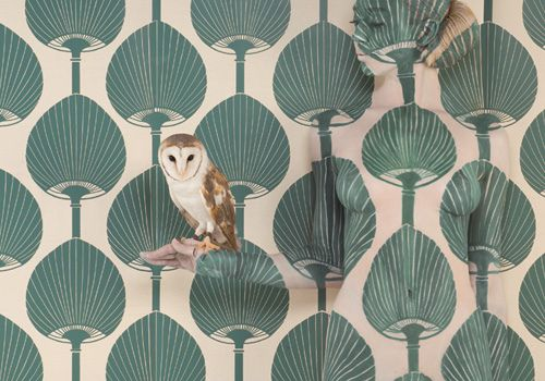 Owl + wallpaper by MyOwlBarn, via Flickr