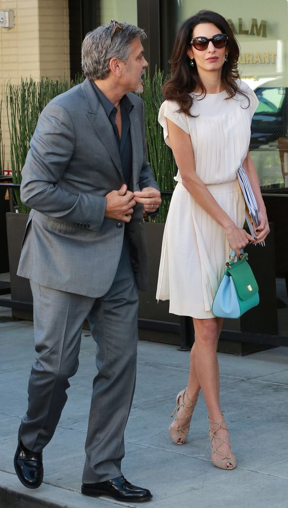 George Clooney and wife Amal Clooney are seen in Beverly Hills, Ca as they leave the popular Palm Restaurant