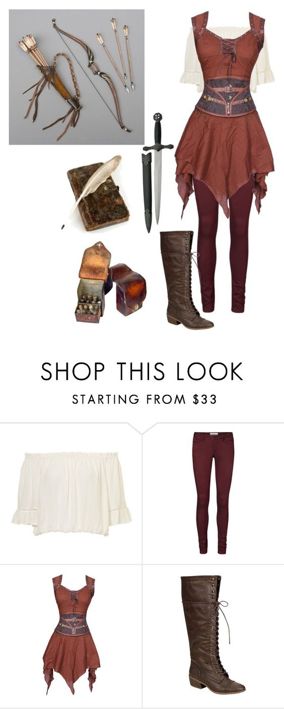 """medieval archer"" by lighterbee ❤ liked on Polyvore featuring Vero Moda <- I like the tunic..."