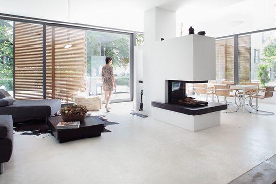 Neubau in Hamburg Nienstedten Bild 1 HOME Pinterest - wohnzimmer kamin design
