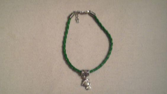 Green Hello Kitty Wrist or Ankle Bracelet