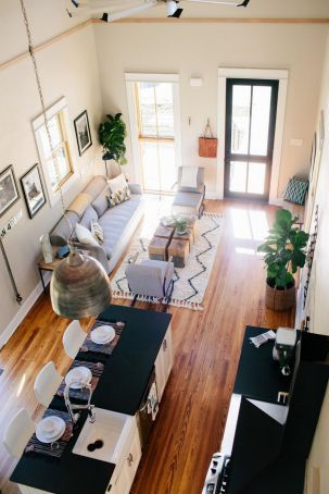 28 Worth It Open Concept Kitchen Living Room Small Layout 14 Tiny House Living Room Tiny House Living Narrow Living Room Open concept in a small house