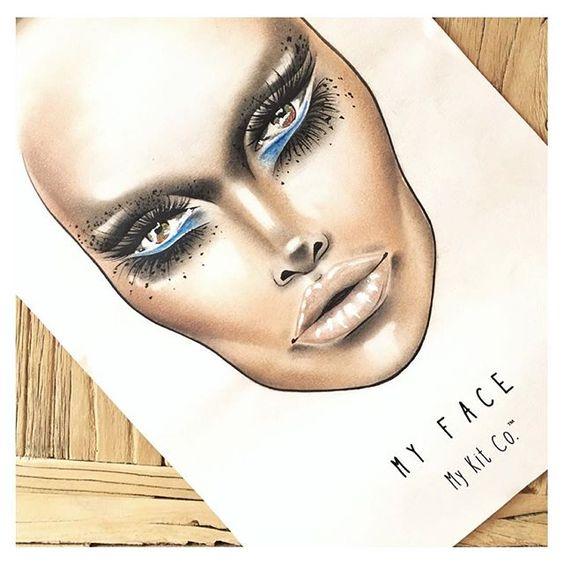 My Face by My Kit Co.™ #Facechart  #artofthechart #facechart #makeup #makeupartist #mykitco