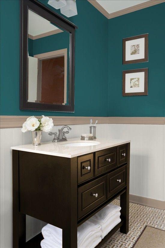 17 Best Bathroom Renovation Using Attractive Bathroom Paint Colors Schemes Small Bathroom Vanities Small Bathroom Makeover Wood Bathroom Vanity
