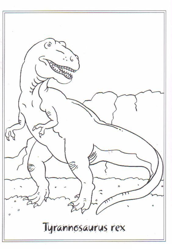 dinosaurier ausmalbilder tyrannosaurus rex - kinder