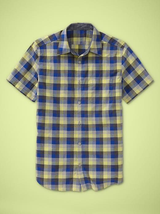 Gap, Patch pocket plaid shirt in Limon...for my AfricEuro trip this summer