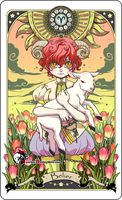 Astrology deck card: Aries by Bory-Einfrost