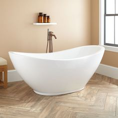 "69"" Caprino Acrylic Double Slipper Tub - Freestanding Tubs - Bathtubs - Bathroom"