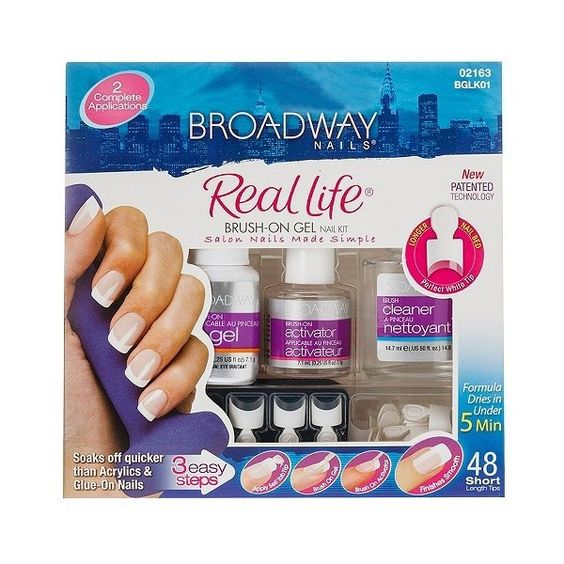 Broadway Nails Real Life Brush-on Gel Nail Kit ($9.99) ❤ liked on Polyvore