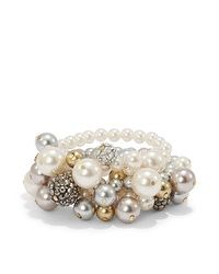 Geneva Pearl Bauble Stretch Bracelet #chicossweeps