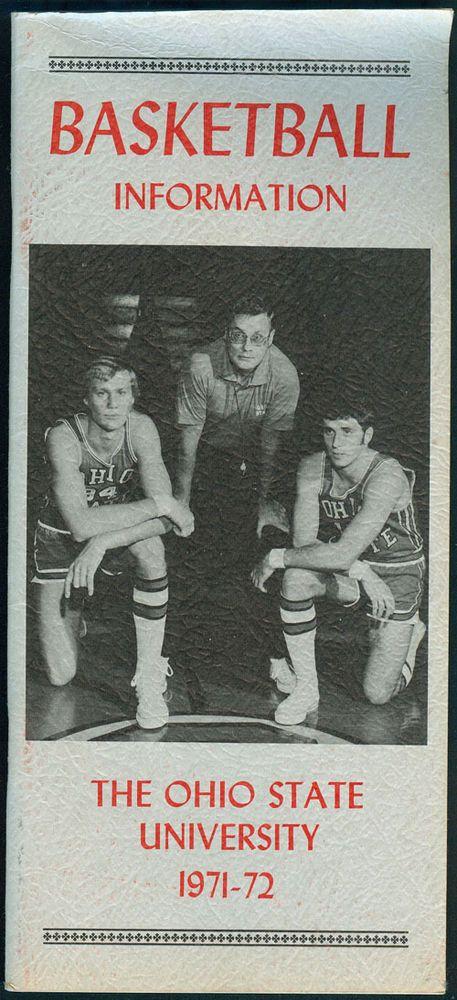 1971-72 ncaa ohio state university buckeyes basketball information press book from $10.0