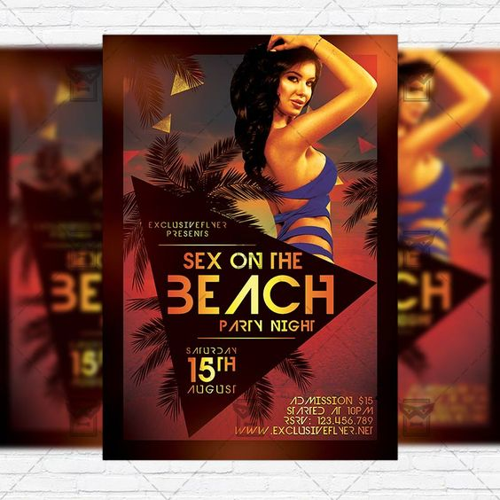 Flyer template, Flyers and On the beach on Pinterest