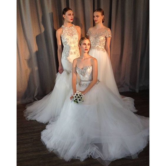 If you could pick just one @badgleymischka!? How would you choose!? WOW! #BadgleyMischka #bridaldesigner #bridalstyle #truelove #glam #top #gorgeous #nybridalmarket #bridalmarket #NYBM #choiceschoices #NYC #nybridalmarket2015 #bride #bridetobe #girlything