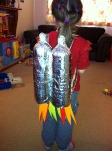 Rocket Backpack- easy to make and great fun to role play in at being astronauts