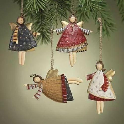 lote de 12 dancing adornos estaño angels christmas tree