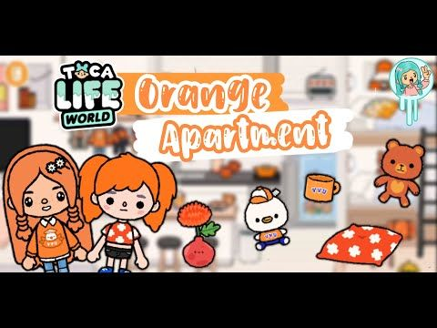 Toca Life World Orange Apartment Makeover Part 04 Youtube Create Your Own World Game Inspiration Apartment Makeover