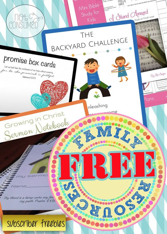 Every family needs a few great freebies, right? Check out this great collection of subscriber freebies. New items added regularly!