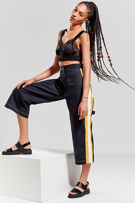 The Ragged Priest Striped Culotte Pant