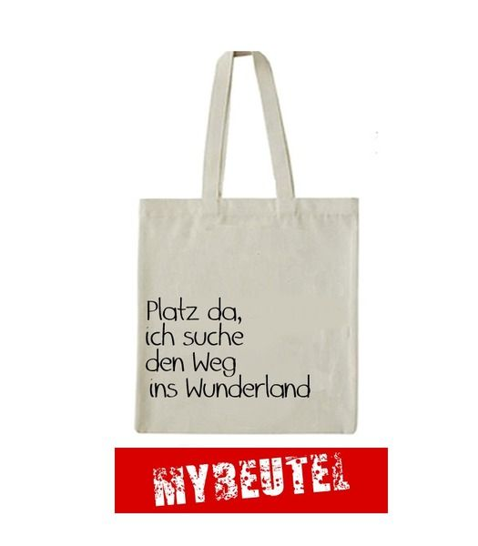 Wunderland  Jutebeutel von MyBeutel auf DaWanda.com