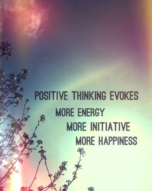 positive thinking evokes... good-words