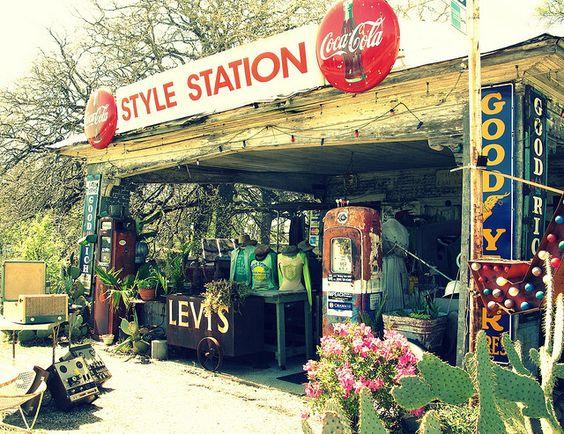 A vintage store outside of Waco, TX