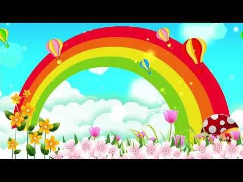 Rainbow Sky Cartoon Background Led Background 4k Youtube Cartoon Background Rainbow Sky Animation Background