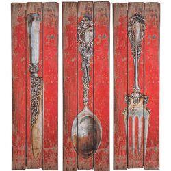 Wandschmuck Cutlery Sortiert