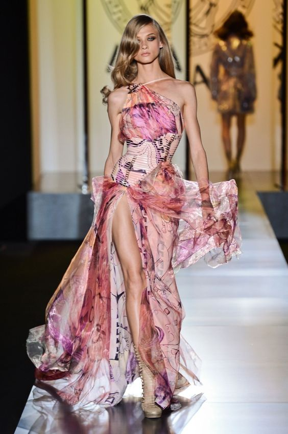 Stunning dress from Versace Atelier Haute Couture fashion show