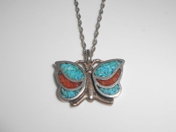 Southwest Butterfly Crushed red & blue by Libbysmomsvintage