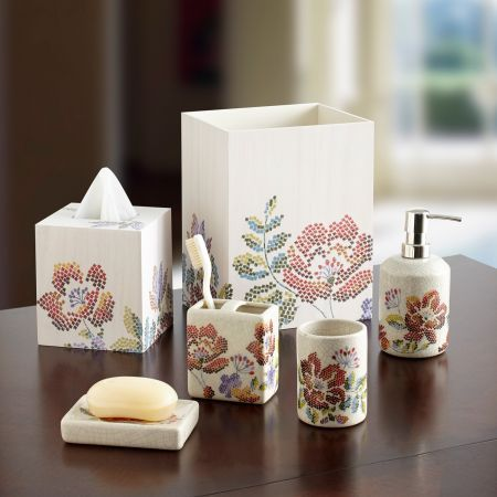 Mosaic Floral Bath Collection To Croscillliving Croscill Bath Pinterest The