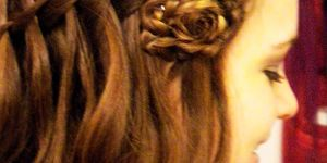 how to end the waterfall braid