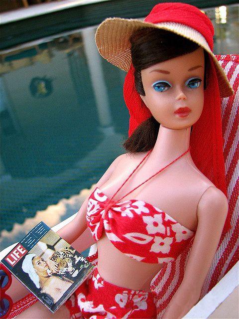 "Brunette Swirl in ""Barbie in Hawaii"" (Hat from Open Road) (credit: ""big red angel"")"