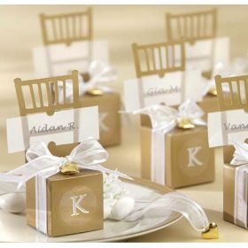 Gold wedding favor chairs.  50 pcs for $25.95 + free shipping!