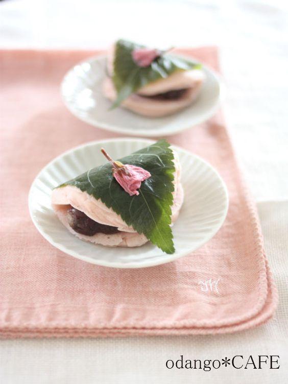 【ライスミルク×米粉】桜餅風パンケーキ ♡おしゃれな桜餅の作り方