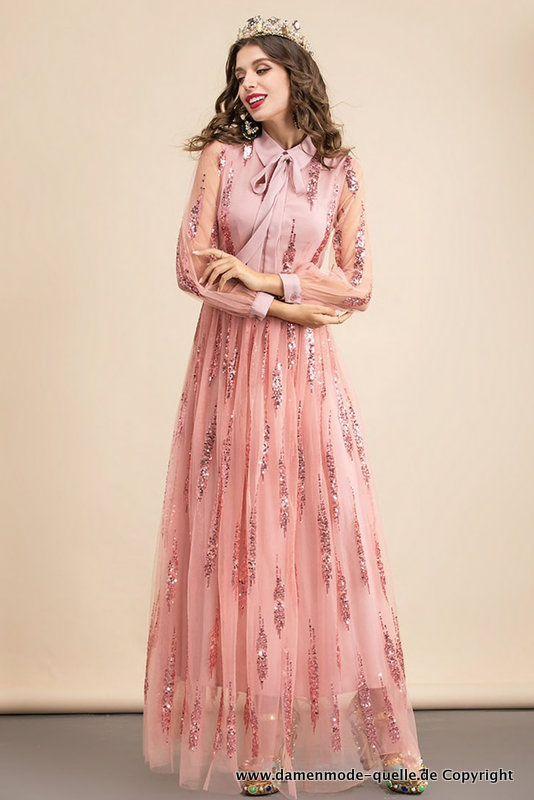 Kleider 2021 Elegantes Langarm Kleid Abendkleid In Lachs Mit Pailletten Damenmode Gunstig Online Kaufen In 2021 Damen Mode Abendkleid Langarm Kleid