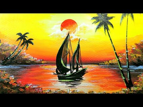 Acrylic Canvas Painting Landscape Canvas Painting Landscape Canvas Painting Projects Landscape Paintings