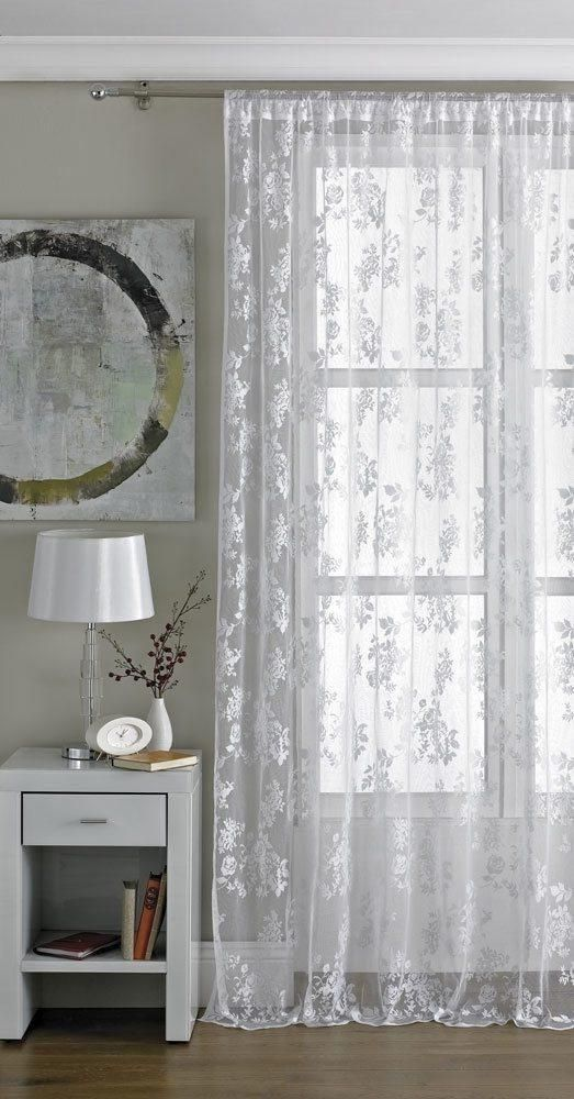 Vintage Lace Panel White White Paneling White Lace Curtains Lace Curtains Living Room #orange #and #gray #curtains #for #living #room